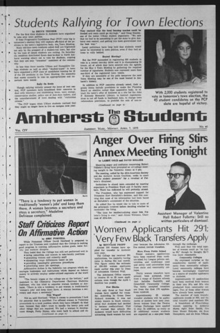 Amherst Student, 1975 April 7