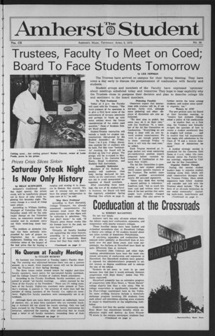 Amherst Student, 1973 April 5