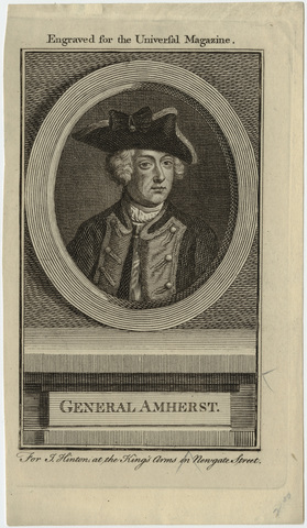 Engraved portrait of General Jeffery Amherst