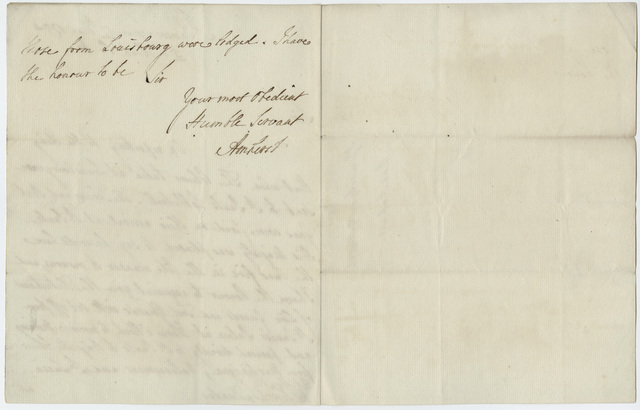 Jeffery Amherst letter to Henry Dundas, 1794 May 17