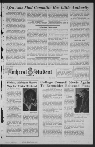 Amherst Student, 1969 March 10