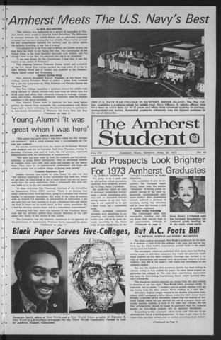 Amherst Student, 1973 April 23