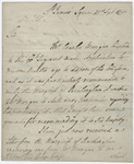 Jeffery Amherst letter to Sir George Yonge, 1790 September 21