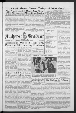 Amherst Student, 1963 April 15