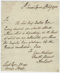 Jeffery Amherst letter to Lieutenant Eyre, 1793 July 6