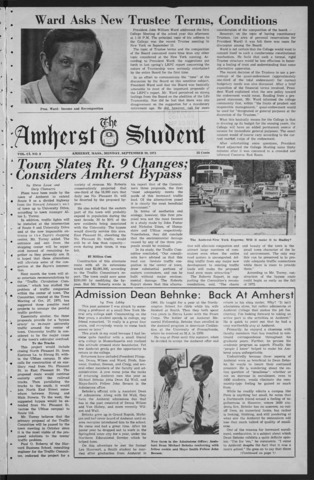 Amherst Student, 1971 September 20