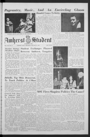 Amherst Student, 1963 January 10