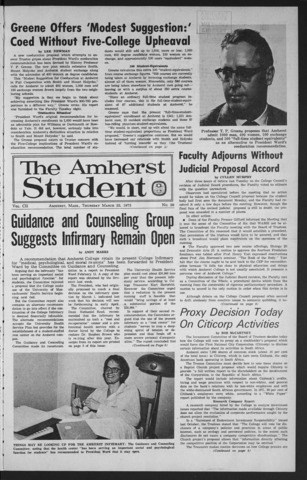 Amherst Student, 1973 March 22