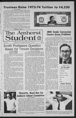 Amherst Student, 1973 February 12