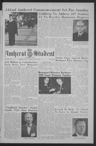 Amherst Student, 1963 June 15, Commencement issue