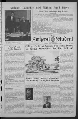 Amherst Student, 1962 March 16