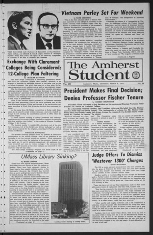Amherst Student, 1973 March 8