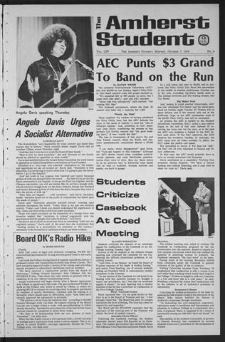 Amherst Student, 1974 October 7, Special issue