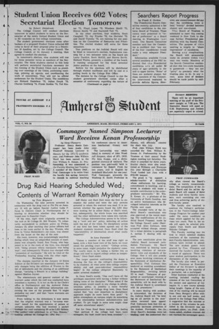 Amherst Student, 1971 February 1