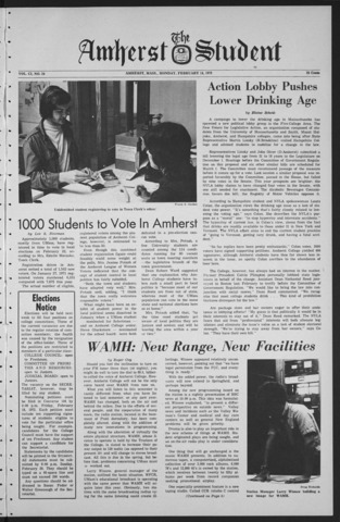 Amherst Student, 1972 February 14