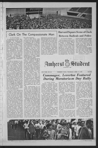 Amherst Student, 1970 April 16