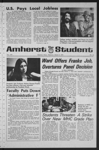 Amherst Student, 1975 March 6
