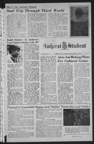 Amherst Student, 1968 September 30
