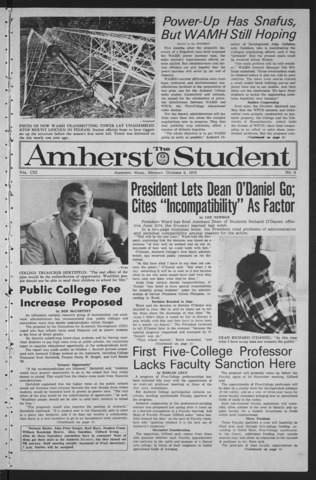Amherst Student, 1973 October 8