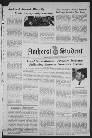 Amherst Student, 1970 October 1