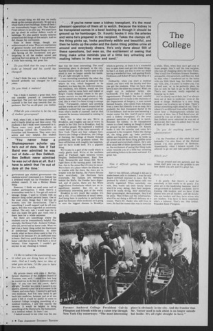 Amherst Student Review, 1973 April 13