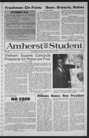 Amherst Student, 1973 March 12