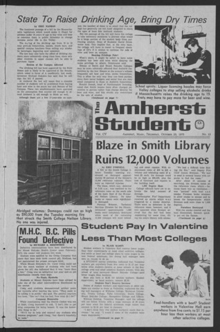 Amherst Student, 1975 October 23