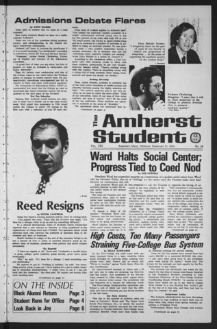 Amherst Student, 1974 February 11