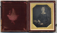 Emily Dickinson, half length portrait, circa 1846-1847