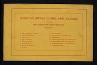 Iroquois Indian games and dances: drawn by Jesse Cornplanter, Seneca Indian boy