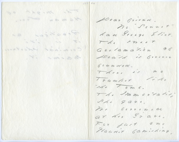 Emily Dickinson letter to T.W. Higginson