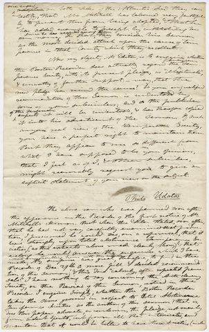 Edward Hitchcock letter to the editor of the Boston Recorder