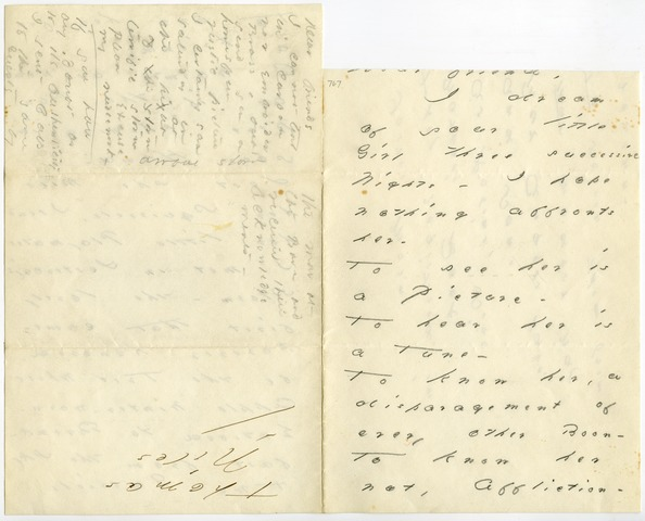 Emily Dickinson letter to [Mrs. Mabel Loomis Todd?]