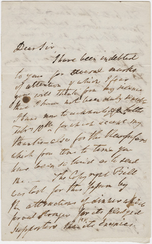 William Wordsworth letter to unidentified recipient, 1841 February 16