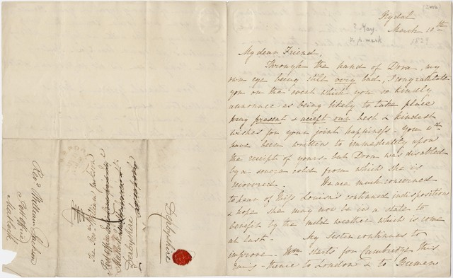William Wordsworth letter to William Jackson, 1829 March 10