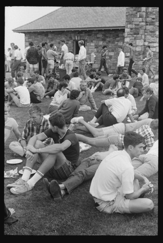 Photographs of the freshman class picnic, 1967 June 10