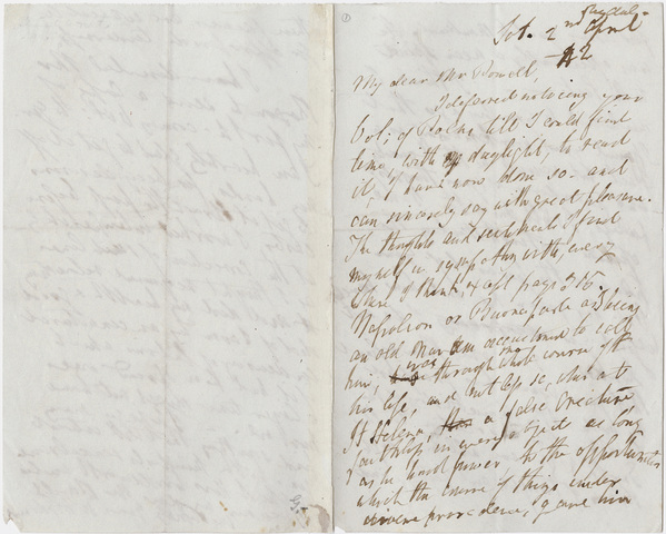 William Wordsworth letter to Thomas Powell, 1842 April 2