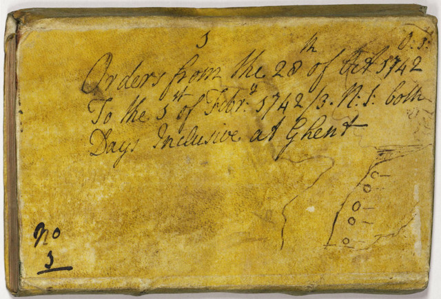 Jeffery Amherst order book, 1742 October 28 to 1743 February 1