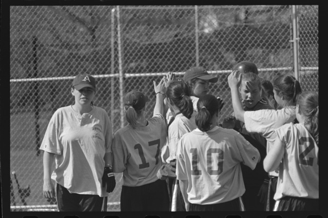 Photographs of a softball game, 1997 May