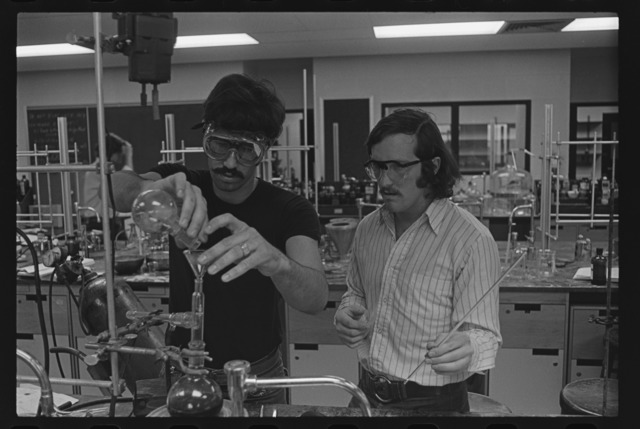 Photographs of labs in session, 1970 May