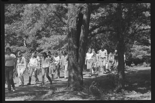 Photographs of the freshman class picnic, 1979 September
