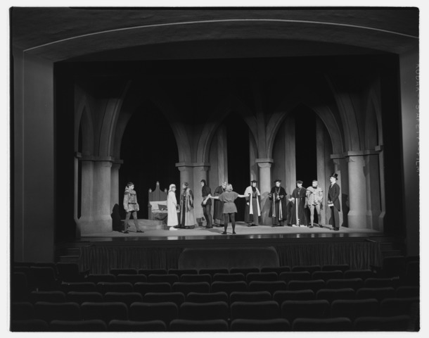 Photographs of Saint Joan in Kirby Theater, 1962