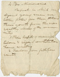 Edward Hitchcock notes on missionaries