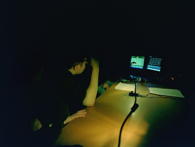 Photographs of a lighting class in session, 1998 November