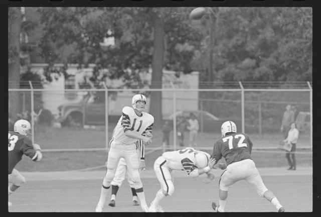 Photographs of Amherst College versus Springfield College football game, 1971 September 25