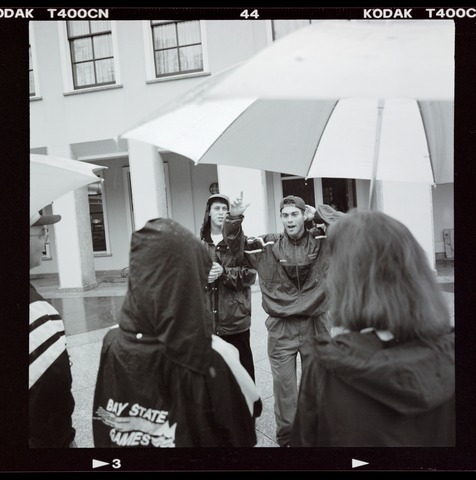 Photographs of campus tour, 1998 May