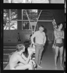 Photographs of a swim meet against Southern Connecticut, 1969 January