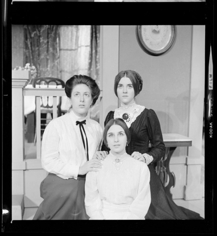 Photographs of three cast members of Three Sisters, 1969 November 17