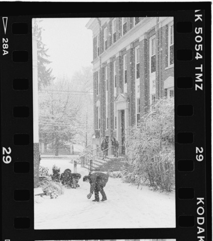 Photographs of a snowball fight, December 1996