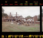 Photographs of the demolition of Milliken Dormitory, 2002 October